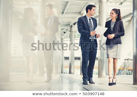 Photo stock: Gens · d'affaires · jeunes · asian · femme · d'affaires · portrait · blanche