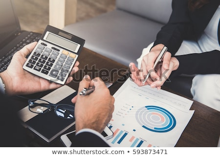 Business finanziaria piano notebook pen Foto d'archivio © Rebirth3d