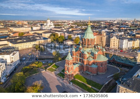 Helsinki Cityscape görmek ortodoks kilise Bina Stok fotoğraf © maisicon