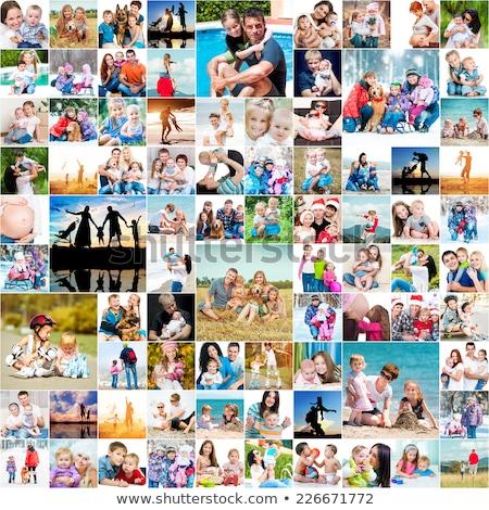 Kollázs pár élvezi nap együtt nő Stock fotó © photography33