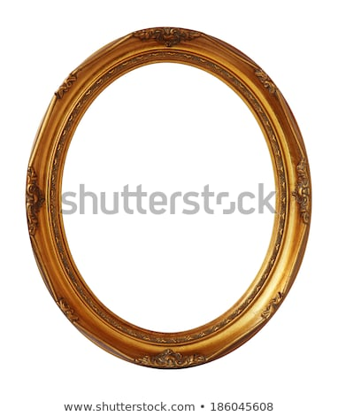 Retro herleving oude frame ovaal fotolijstje Stockfoto © adamr