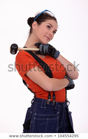 Working woman with mace on his shoulder Stock photo © photography33