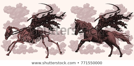 Equestrian of the Apocalypse. Death stock photo © yul30