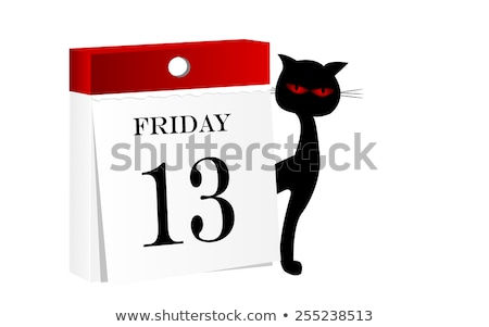 Thirteen black cats Stock photo © sigur