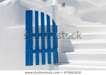 Blauw · deur · lava · steen · metselwerk · muur - stockfoto © elenarts
