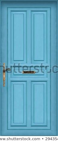 Bleu porte boîte aux lettres rue maison Photo stock © urbanangel