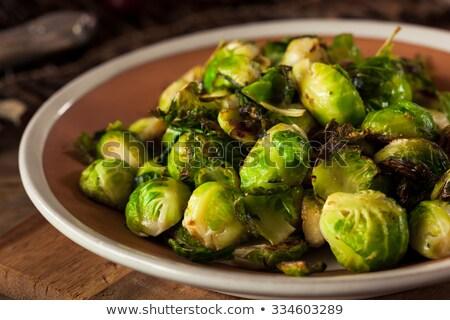 Gotowany Bruksela obiad krem posiłek diety Zdjęcia stock © M-studio