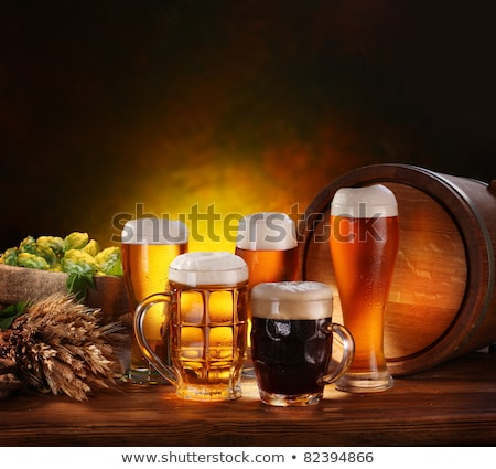 Still-life with beer glasses. On a white background. Stock photo © mitay20
