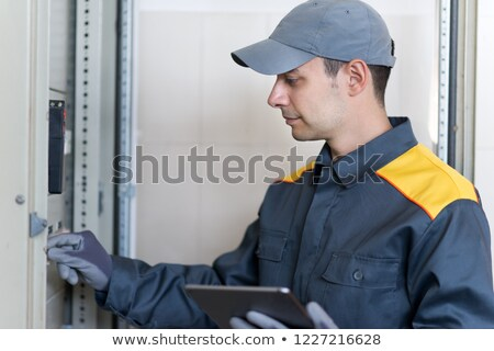 Electrician shutting off the power Stock photo © photography33