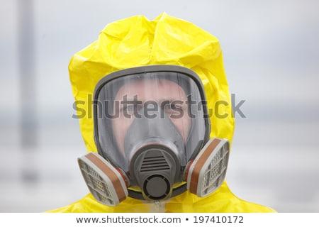 Gaz maskesi üç yeni eski teknoloji arka plan Stok fotoğraf © marekusz