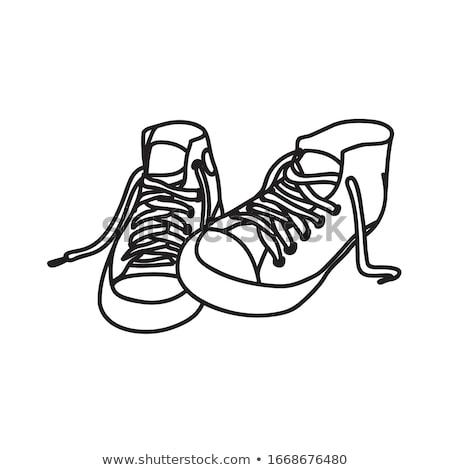 Black shoes silhouettes Stock photo © lkeskinen