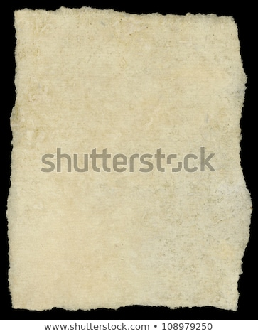 Vintage torn canvas art paper isolated on black. Stock photo © latent