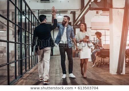 high · five · Homme · Homme · gens · d'affaires - photo stock © lisafx