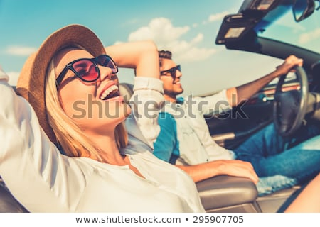 couple relaxing in a convertible car stock photo © photography33