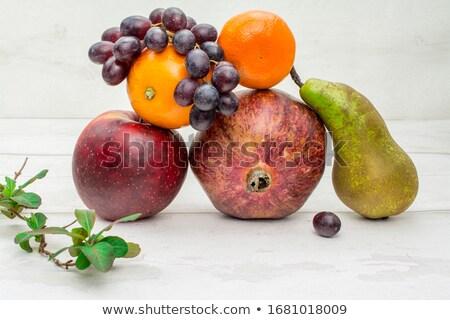 satın · alma · meyve · portre · kadın · turuncu · alışveriş · çantası - stok fotoğraf © cherju