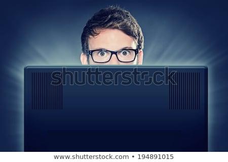 女性コンピュータ · 非常識な · 女性 · コンピュータ · ドリル - ストックフォト © smithore