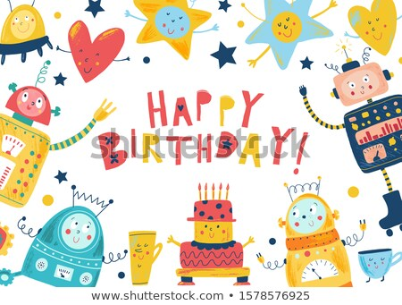 happy birthday robot stock photo © creisinger