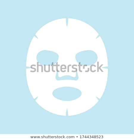 Cosmetische masker mooie jong meisje gezicht vrouw Stockfoto © UrchenkoJulia