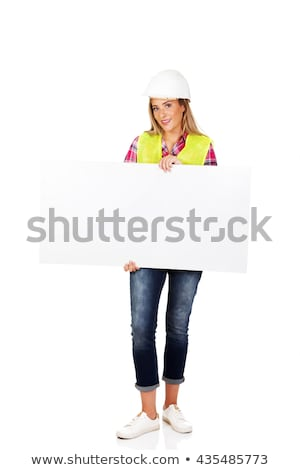 a female builder showing a copyspace Stock photo © photography33