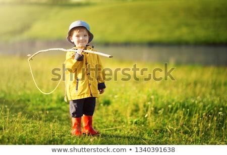 Chłopca parku rozrywka publicznych ogród sztuczny Zdjęcia stock © Traven
