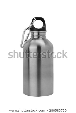 Aluminium canteen isolated on white background. Path included Stock photo © shutswis