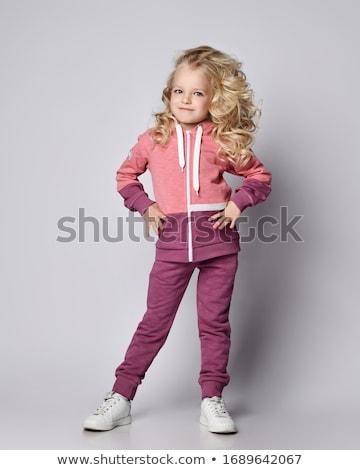 blond · dziewczyna · pełny · wzrostu · biały · sexy - zdjęcia stock © RuslanOmega