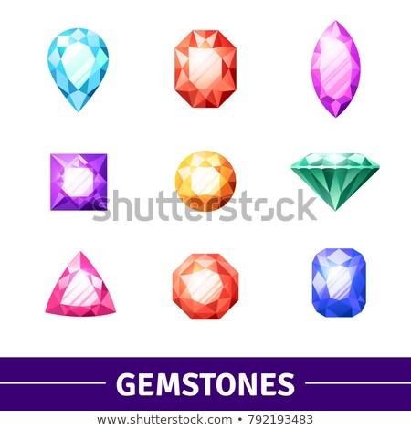 of a set of light precious stones of different cut Stock photo © yurkina