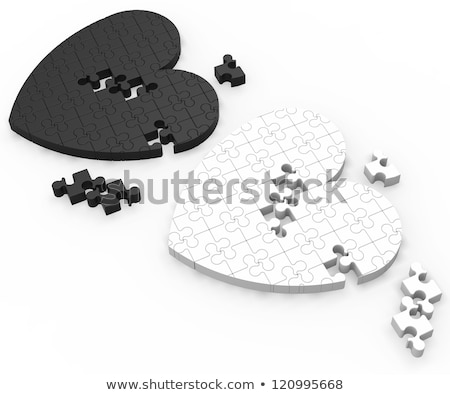 Twee 3D puzzel verleden betrekkingen vermist Stockfoto © stuartmiles