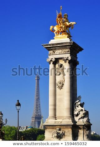 Eiffeltoren brug Parijs rivieroever Frankrijk gebouw Stockfoto © neirfy
