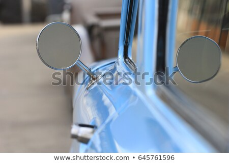 Kant spiegel oude auto auto landschap Stockfoto © Witthaya