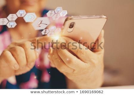 Tradeswoman using a mallet Stock photo © photography33