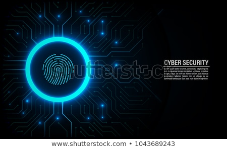 Electronic digital fingerprint processing Stock photo © Balefire9