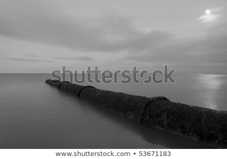 volle · maan · Schotland · zwart · wit · afbeelding · water · landschap - stockfoto © garethweeks