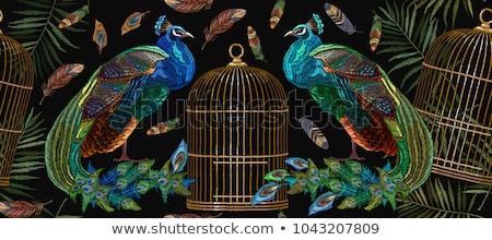 Golden Peacock Design Stock photo © hpkalyani