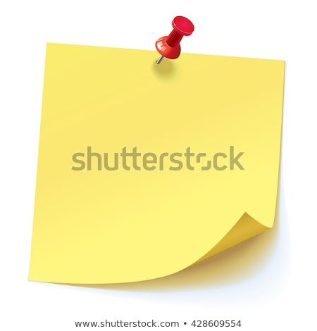 Yellow post-it with drawing pin on a white background Stock photo © wavebreak_media