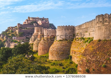 hinduizmus · templom · erőd · fal · terv · építészet - stock fotó © mikko