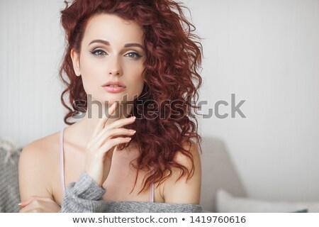 jóvenes · hermosa · mujer · cara · moda · retrato - foto stock © Andersonrise