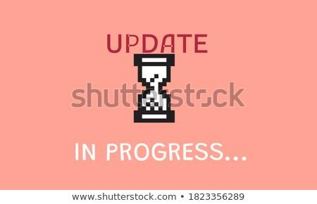 Aktualizacja przycisk nowoczesne słowo partnerów Zdjęcia stock © tashatuvango