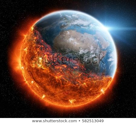 Burning Globe Earth Stock photo © sdecoret