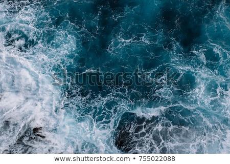 Oceano branco nuvens blue sky temporada natureza Foto stock © photochecker