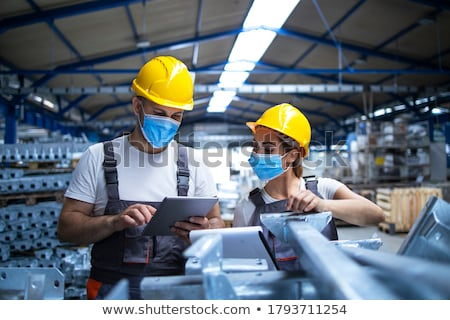 Stock photo: health and safety man