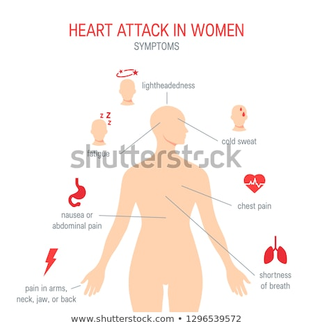 Stroke and heart attack warning signs Stock photo © Lightsource