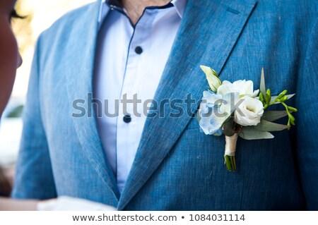 Stockfoto: Grooms Flower And Cravat