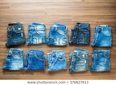 stack of blue jeans shade Stock photo © RuslanOmega
