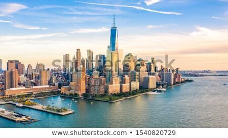 Pomeriggio centro Manhattan sole edifici Foto d'archivio © eldadcarin