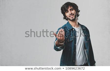 A man beckons finger Stock photo © a2bb5s