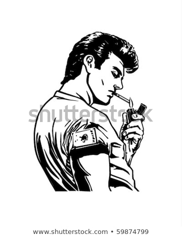 Smoking Mobster Stock photo © eldadcarin