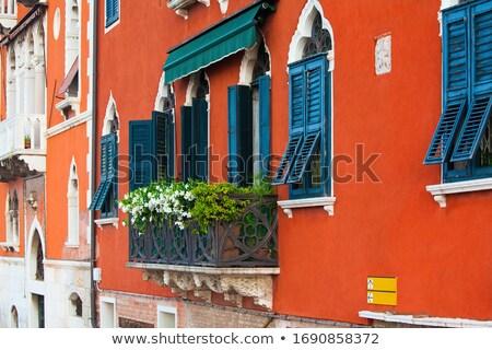 Сток-фото: кирпичных · дома · покрытый · винограда · Венеция · Италия