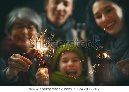 family with sparkler Stock photo © Paha_L