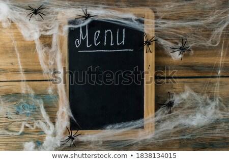 Pusty tablicy halloween dekoracje przestrzeni tekst Zdjęcia stock © gophoto